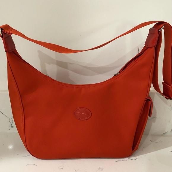 Longchamp Bags   Le Planetes Nylon Crossbody Bag Poppy   Poshmark bc6c927197
